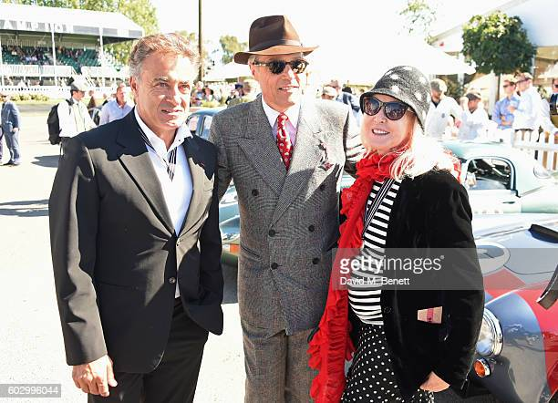 Jean Alesi Lord Charles March and Lady Helen Stewart attend day 3 of the Goodwood Revival at Goodwood on September 11 2016 in Chichester England