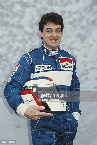 Jean Alesi of France driver of the Tyrrell Racing Organisation Tyrrell 019 Ford Cosworth DFR V8 poses for a portrait during pre season testing on 1...
