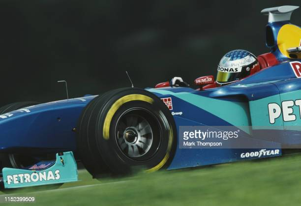 Jean Alesi of France drives the Red Bull Sauber Petronas Sauber C17 Petronas V10 during the Austrian Grand Prix on 26th July 1998 at the A1Ring in...