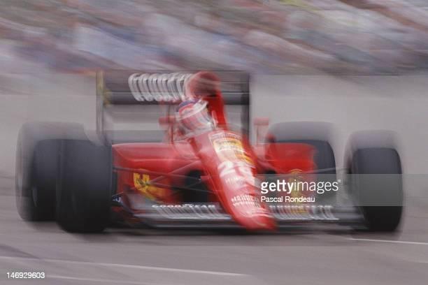 Jean Alesi of France drives the Scuderia Ferrari SpA Ferrari 642/2 Ferrari V12 at speed during the Iceberg United States Grand Prix on 10th March...
