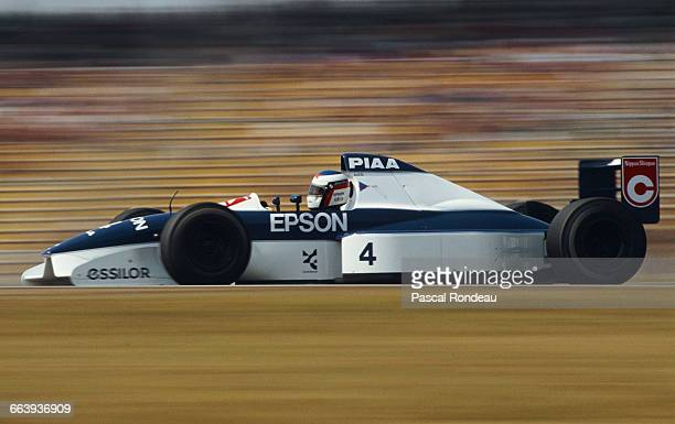Jean Alesi of France drives the Tyrrell Racing Organisation Tyrrell 019 Ford Cosworth DFR V8 during the Mobil 1 German Grand Prix on 29 July 1990 at...