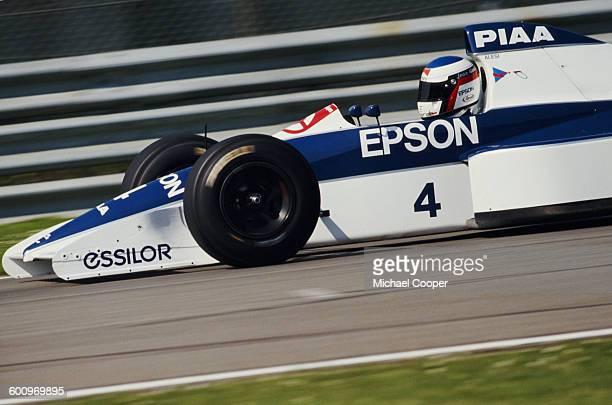 Jean Alesi of France drives the TyrrellFord 019 during pre season testing 1st February 1990 at the Autodromo Enzo e Dino Ferrari in Imola San Marino