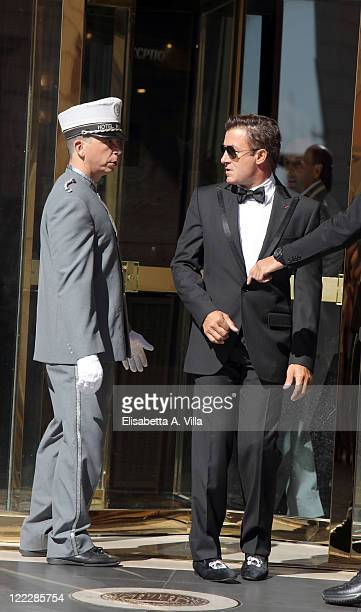 Jean Alesi sighted leaving the Hassler Hotel ahead of the wedding of Petra Ecclestone and James Stunt on August 27 2011 in Rome Italy