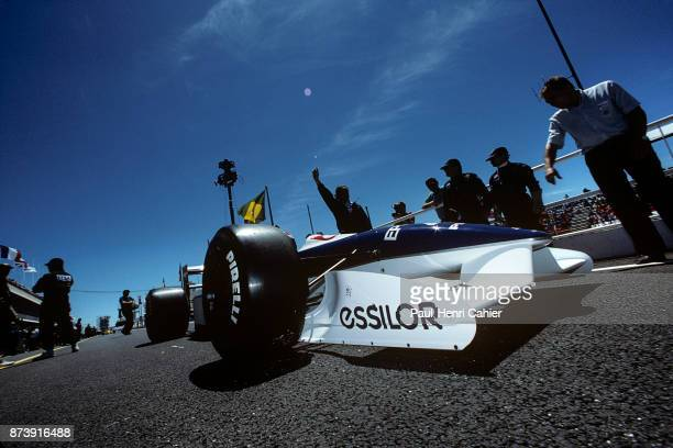 Jean Alesi, Tyrrell-Ford 019, Grand Prix of France, Circuit Paul Ricard, 08 July 1990. Jean Alesi's Tyrrell-Ford 019 in the pit lane during practice...