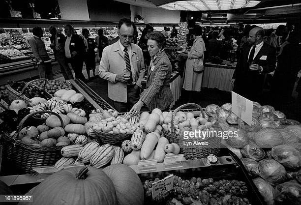 SEP 24 1986 Jean and Barbara Braucht of Cherry Wills look at different varities of Squash Butternut Yellow Delicata Turbin