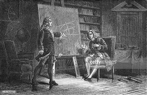 Jean and Jacques Bernoulli working on geometrical problems 18th century Jacques Bernoulli and his brother Jean Bernoulli were members of the...