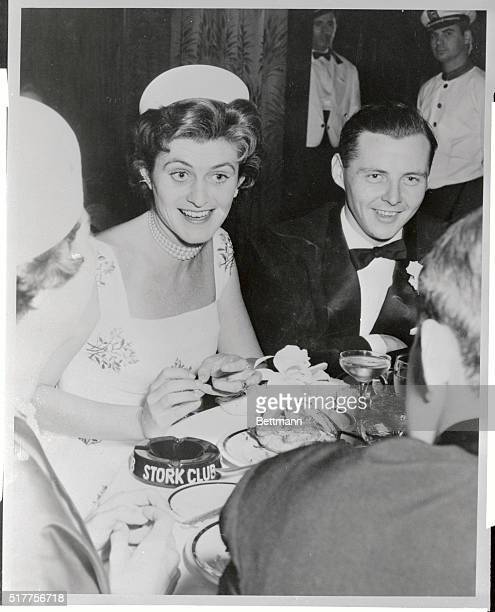 Jean Ann Kennedy with her fiancee Stephen Edward Smith