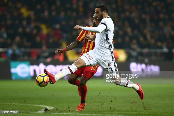 Jean Armel Kana Biyik of Kayserispor Cenk Tosun of Besiktas during the Turkish Super lig match between Kayserispor v Besiktas at the Kayseri Kadir...