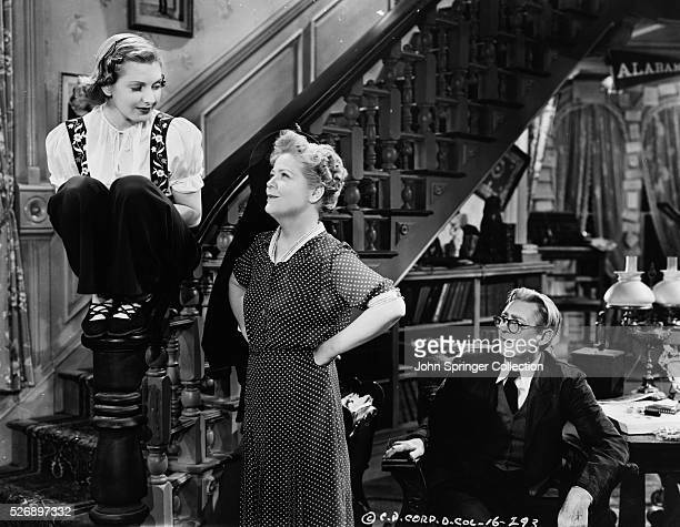 Jean Arthur as granddaughter Alice Sycamore Spring Byington as daughter Penny Sycamore and Lionel Barrymore as Grandfather Martin Vanderhof in the...