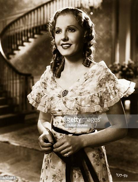 Jean Arthur plays Emma in a scene from 'Diamond Jim' a film about the life of a millionaire playboy directed by A Edward Sutherland for Universal
