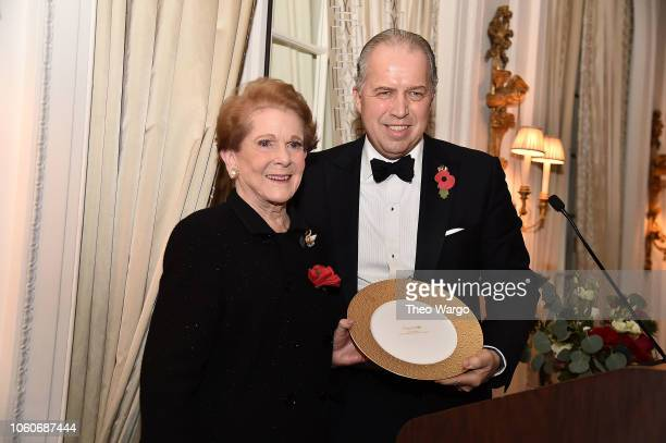 Jean Astrop and James Gerard attend the 2018 American Friends of Blerancourt Dinner on November 9 2018 in New York City