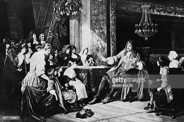 Jean Baptis Moliere Schriftsteller Dramatiker F mit seiner Theatergruppe