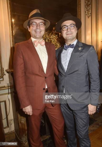 "Jean Baptiste Chantoiseau, his husband Raphael Chantoiseau from « Bien en Place » attends the Cocktail ""Karine Ohana And Co"" Hosted by Katia..."