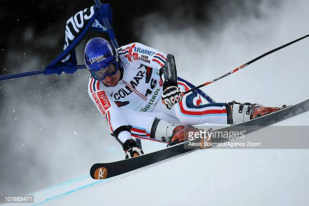 Jean Baptiste Grange of France in action during the Audi FIS Alpine Ski World Cup Men's Giant Slalom on December 19 2010 in Alta Badia Italy