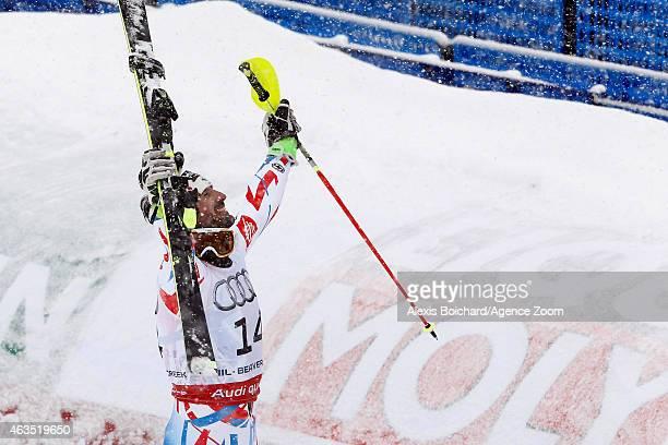 Jean Baptiste Grange of France wins the gold medal during the FIS Alpine World Ski Championships Men's Slalom on February 15 2015 in Beaver Creek...