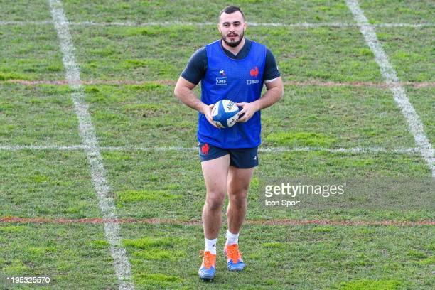 Jean Baptiste GROS of France during the training session of Men's French Rugby Team on January 22 2020 in Nice France