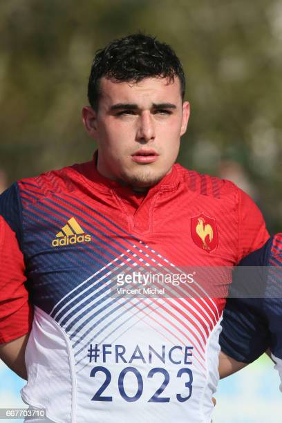 Jean Baptiste Gros of France during the U18 Rugby Europe Championship semi final match between France and Portugal on April 11 2017 in Concarneau...