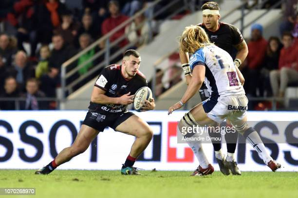 Jean Baptiste Gros of Toulon during the European Champions Cup match between Toulon and Montpellier at Felix Mayol Stadium on December 8 2018 in...