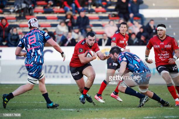Jean Baptiste Gros of Toulon during the Top 14 match between Toulon and Stade Francais at Felix Mayol Stadium on January 27 2019 in Toulon France