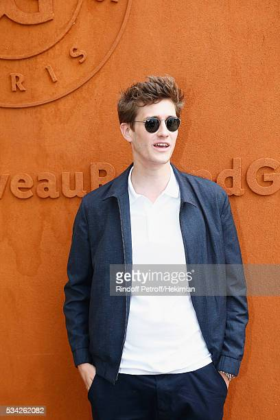 Jean Baptiste Maunier attends day four of the French Tennis Open at Roland Garros on May 25 2016 in Paris France