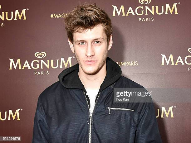 Jean Baptiste Maunier attends Magnum Paris Concept Store Rue des Rosiers Opening Party on April 14 2015 in Paris France