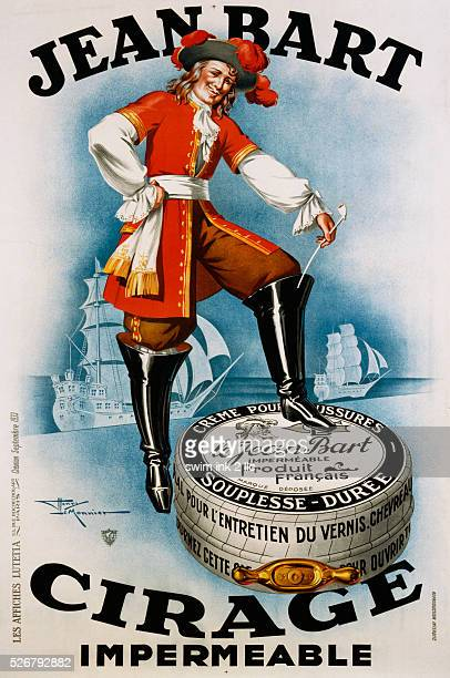 Jean Bart Cirage Shoe Polish Poster by Henry Le Monnier