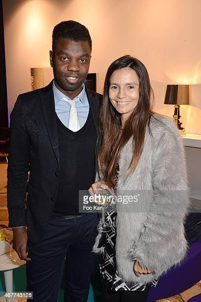 Jean Barthelemy Bokassa and Emma Sartini attend the 'Diamond Night by Divinescence Vendome' Harumi Klossowska Jewellery Exhibition Preview As Part Of...