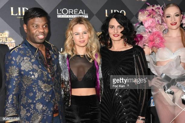 Jean Barthelemy Bokassa Julie Jardon and Sylvie Ortega Munos attend the Top Model Belgium Awards 2018 Ceremony at the Lido on January 21 2018 in...