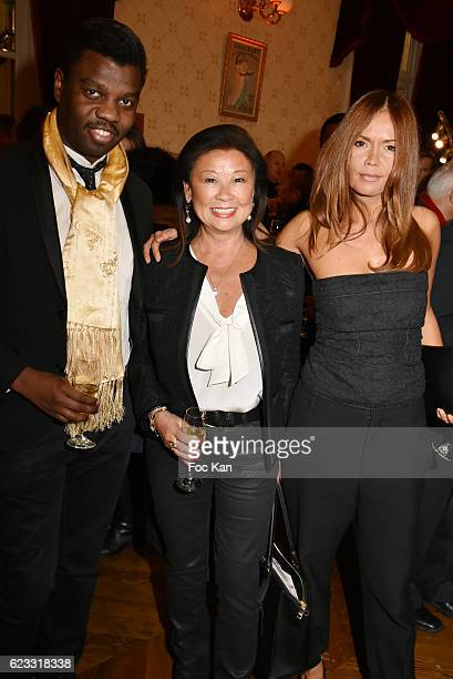 Jean Barthelemy Bokassa Paris 8th district mayor Jeanne d'Hauteserre and Karine Arsene attend the Gala de L'Espoir 2016 at Theatre du Chatelet on...