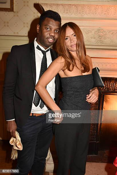 Jean Barthelemy BokassaÊand Karine Arsene attend the Gala de L'Espoir 2016 at Theatre du Chatelet on November 14 2016 in Paris France