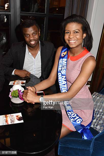 Jean Barthelemy BokassaÊand Miss Nationale 1st Dauphine Nathanaelle Audel attend 'Guitar Tribute' by Golden disc awarded Jean Pierre Danel at Hotel...