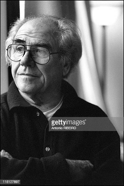 Jean Baudrillard, French intellectual, critic and proponent of postmodernity in Paris, France on February 04, 1999 - He articulates on how the world...