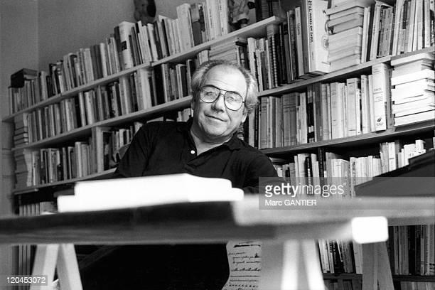 Jean Baudrillard in Paris, France in 1990.