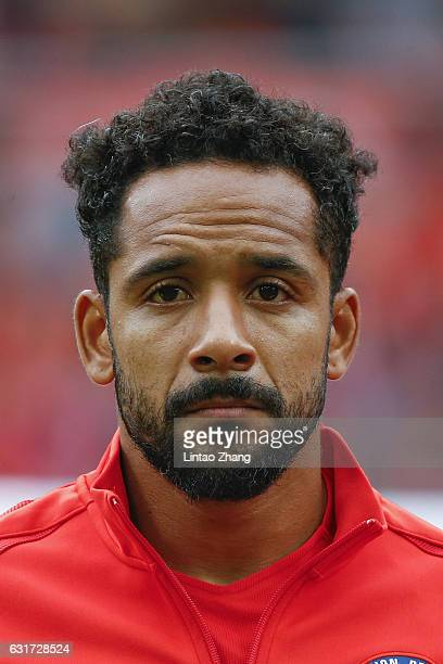Jean Beausejour of Chile looks on during the final match of 2017 Gree China Cup International Football Championship between Chile and Iceland at...