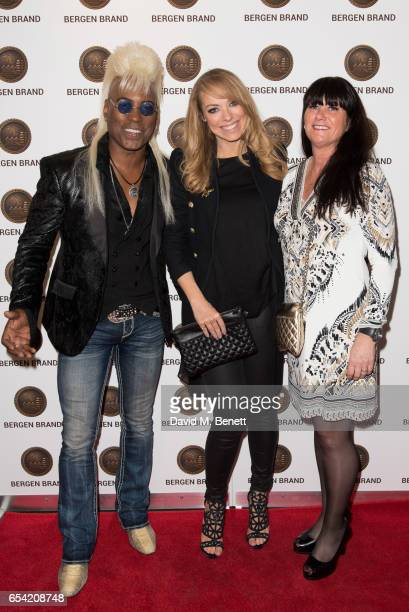Jean Beavuoir Renate Stormark and Liz McLarnon attend Bergen Brand Handbag Launch At Wolf Badger on March 16 2016 in London England