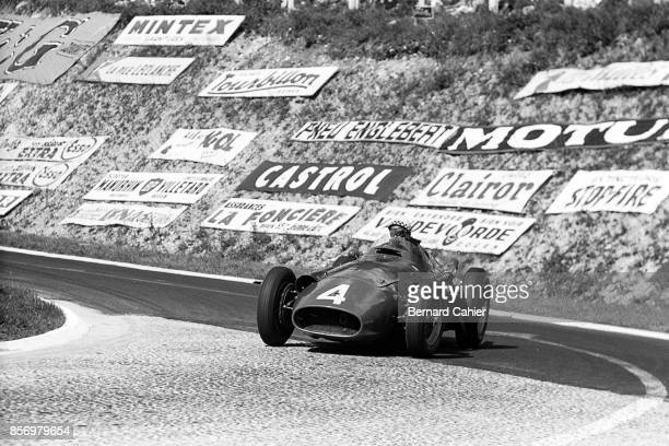 Jean Behra Maserati 250F Grand Prix of France RouenLesEssarts 07 July 1957