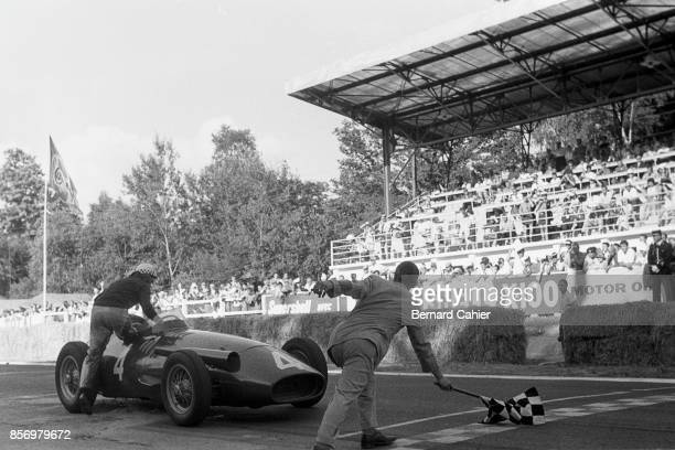 Jean Behra Maserati 250F Grand Prix of France RouenLesEssarts 07 July 1957 So near yet so far Jean Behra's Maserati 250F broke just before the...