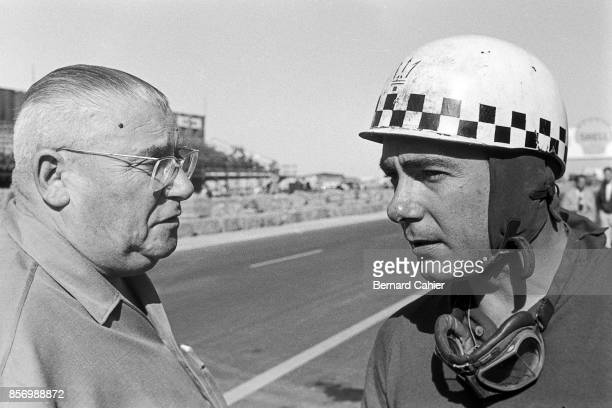 Jean Behra Toto Roche Grand Prix of Morocco AinDiab Circuit Casablanca 27 October 1957 Jean Behra with famous Reims circuit race director Toto Roche