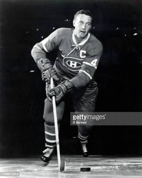 Jean Beliveau of the Montreal Canadiens poses for a portrait circa 1965 in Montreal Quebec Canada