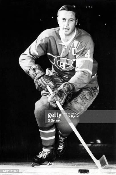 Jean Beliveau of the Montreal Canadiens poses for a portrait circa 1966 in Montreal Quebec Canada