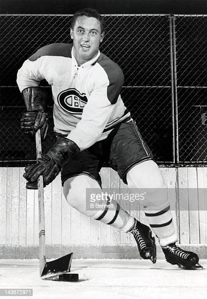 Jean Beliveau of the Montreal Canadiens poses for a portrait circa 1963 in Montreal Quebec Canada