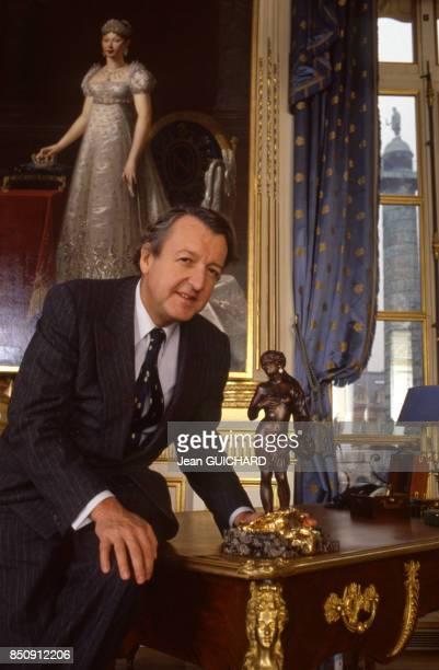 Jean Bergeron pdg de Chaumet Place Vendôme à Paris le 6 novembre 1987 France