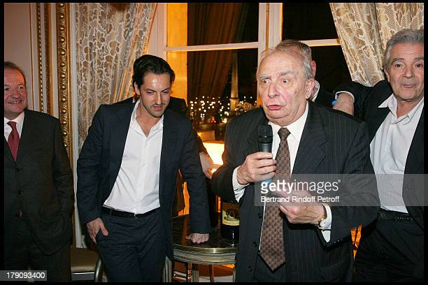 Jean Bernard Grenie Frederic Dieffenthal Claude Chabrol and Pierre Arditi at Dinner For The Fourth Edition Of Des Trois Coups De L'Angelus