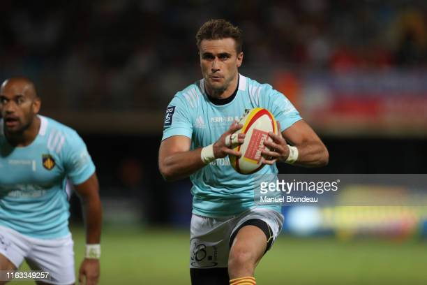 Jean Bernard Pujol of Perpignan during the Pro D2 match between Perpignan and Beziers on August 22 2019 in Perpignan France