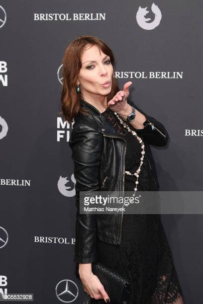 Jean Bork attends the Ewa Herzog show during the MBFW Berlin January 2018 at ewerk on January 16 2018 in Berlin Germany