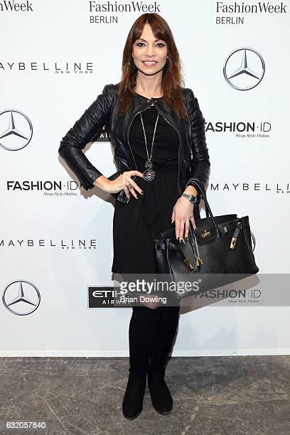 Jean Bork attends the Ewa Herzog show during the MercedesBenz Fashion Week Berlin A/W 2017 at Kaufhaus Jandorf on January 19 2017 in Berlin Germany