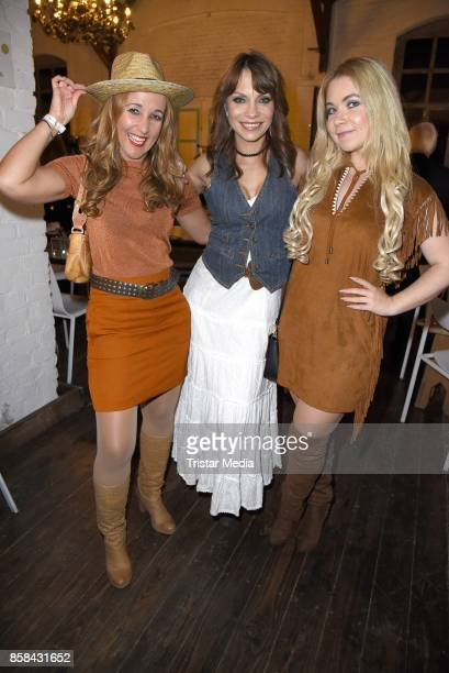 Jean Bork Claudia Campus and Nadine Trompka attend the 'CMS Gamblers Night Western Style' of Christoph Metzelder Foundation on October 6 2017 in...