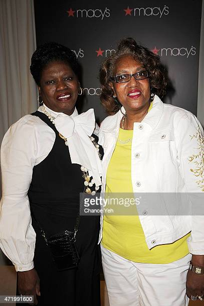 Jean Brook Murphy and Toni Hatcher attend Cynthia Bailey Visits Macy's Downtown Brooklyn on May 2 2015 in New York City