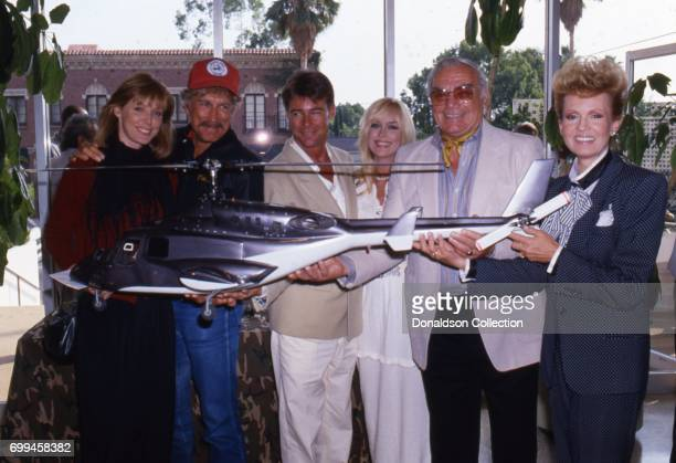 Jean Bruce Scott Alex Cord JanMichael Vincent Catherine Hickland Ernest Borgnine with his wife Tova Borgnine 'Airwolf' poses for a portrait with his...