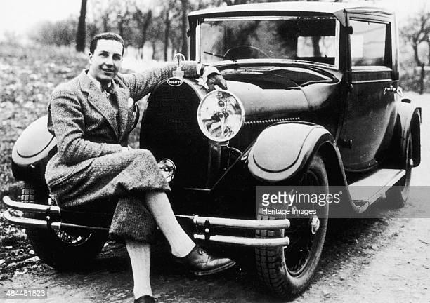 Jean Bugatti pictured with a Bugatti car, 1930s. The son of Ettore Bugatti, the founder of Bugatti. By 1936 he was made a director at his father's...